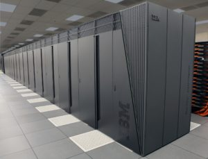 Bank of processors for a supercomputer