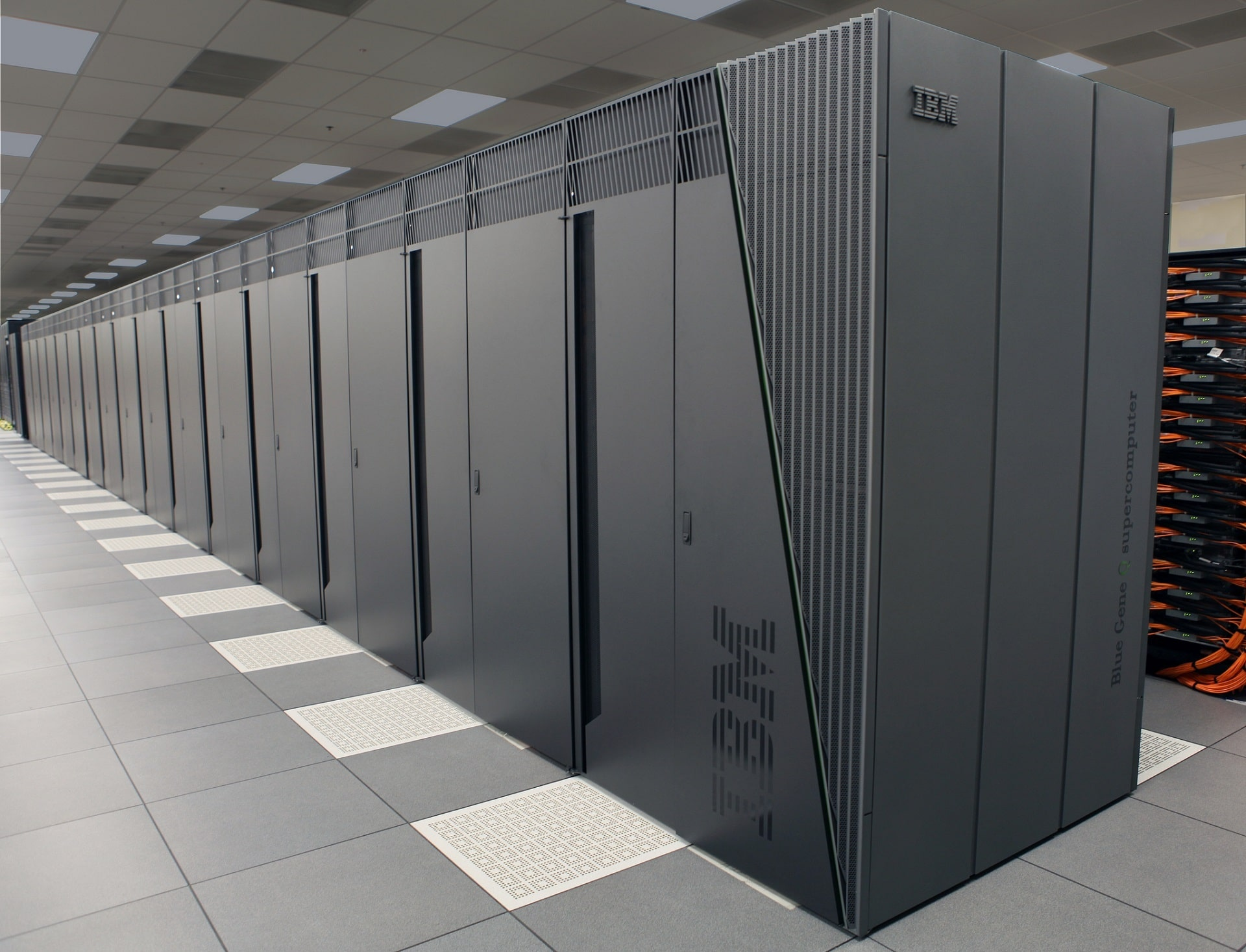 Bank of processors for a supercomputer offering computer support to the Met Office